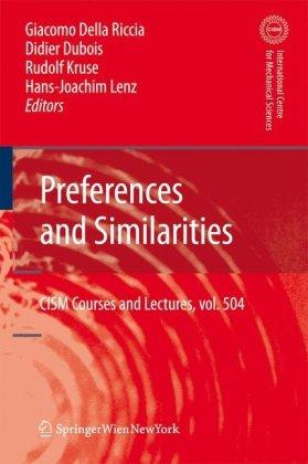 Preferences and Similarities (CISM International Centre for Mechanical Sciences)