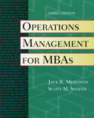 Operations Management for Mbas With Crystal Ball