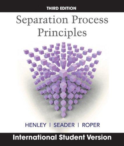Separation Process Principles