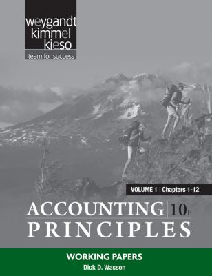 Accounting Principles, Working Papers