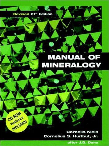 manual of mineralogy 21st edition pdf