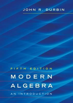 Modern Algebra An Introduction