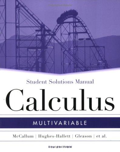 Multivariable Calculus, SSM: MV