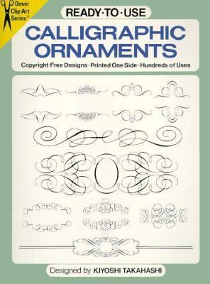 Ready to Use Calligraphic Ornaments Copyright, Free Designs, Printed One Side, Hundreds of Uses