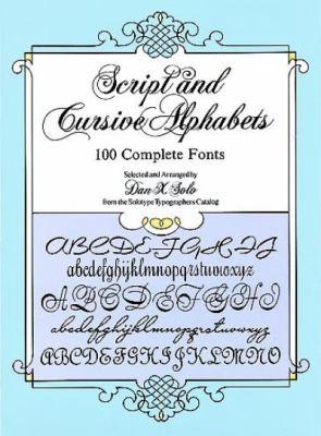 Script and Cursive Alphabets 100 Complete Fonts