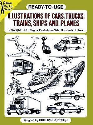 Ready-To-Use Illustrations of Cars, Trucks, Trains, Ships and Planes