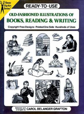 Ready-To-Use Old-Fashioned Illustrations of Books, Reading & Writing Copyright-Free Designs, Printed One Side, Hundreds of Use