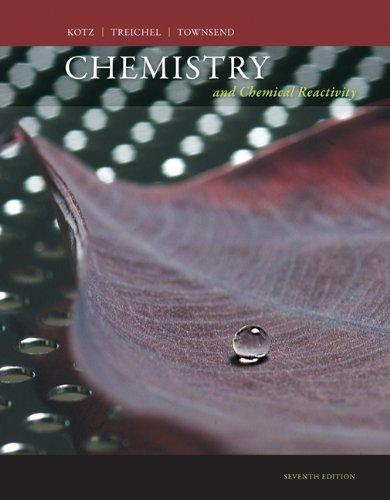 Student Solutions Manual for Kotz/Treichel/Townsend's Chemistry and Chemical Reactivity, 7th