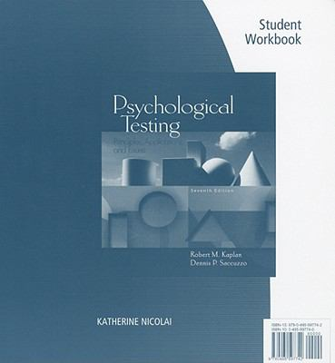 Student Workbook for Kaplan/Saccuzzo's Psychological Testing: Principles, Applications
