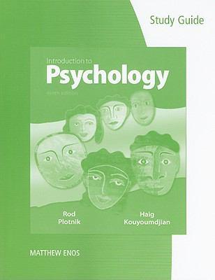 Study Guide for Plotnik/Kouyoumdjian's Introduction to Psychology, 9th