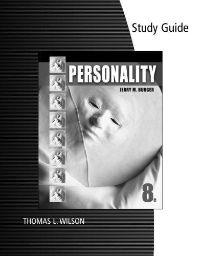 Study Guide for Burger's Personality
