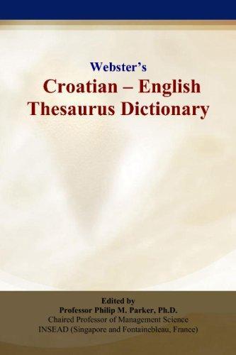Webster's Croatian - English Thesaurus Dictionary