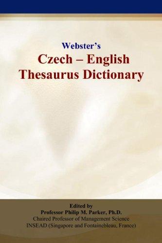 Webster's Czech - English Thesaurus Dictionary