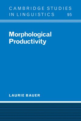 Morphological Productivity