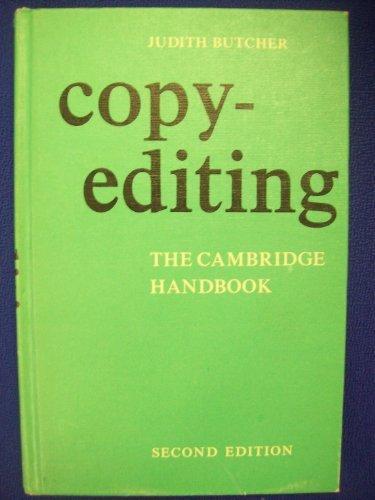 Copy-Editing: The Cambridge Handbook