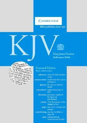 King James Version Concord Reference Edition Calfskin Leather (Black, Black Letter, Dictionary)