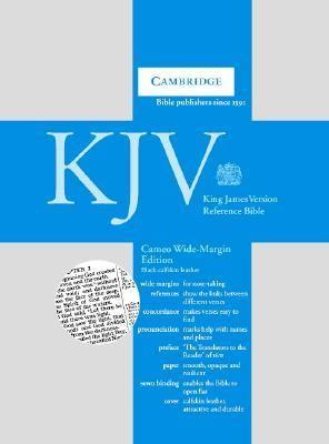 Cameo Reference Bible, Wide-Margin Edition: King James Version (KJV), black calfskin leather