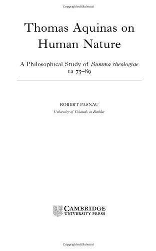 Thomas Aquinas on Human Nature: A Philosophical Study of Summa Theologiae, 1a 75-89
