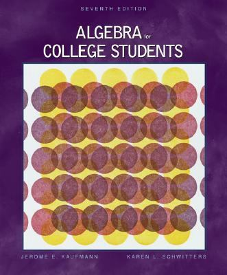 Algebra for College Students With Infotrac