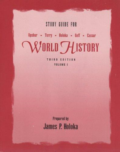 Study Guide for World History, Vol. 1, 3rd Edition