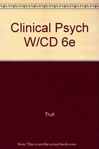 Clinical Psychology: Concepts, Methods, and Profession (Non-InfoTrac Version with CD-ROM)