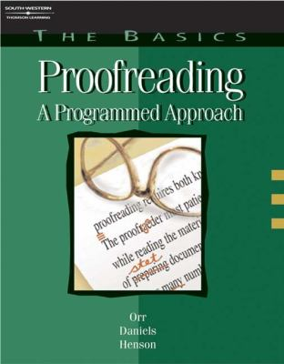 Basics of Proofreading A Programmed Approach