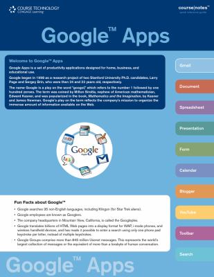 Google Apps CourseNotes