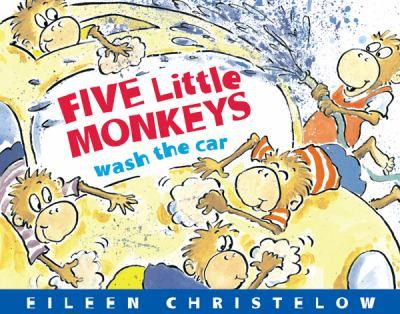 Five Little Monkeys Wash the Car board book