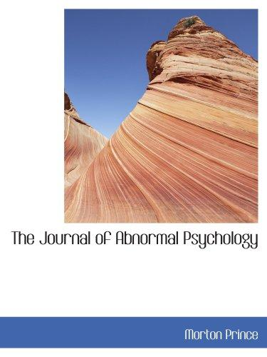 The Journal of Abnormal Psychology: Volume 10