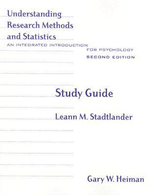 Understanding Research Methods And Statistics An Integrated Introduction For Psychology
