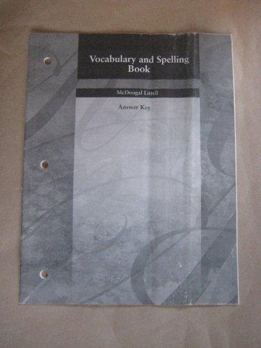 McDougal Littell Language of Literature: Vocabulary and