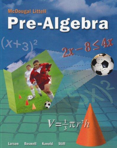 Mcdougal Littell Middle School Math Student Edition Pre