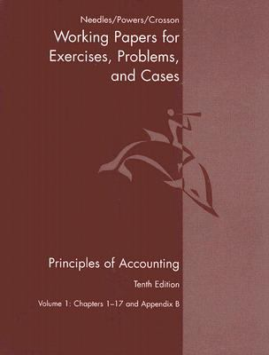Principles of Accounting -Working Papers for Exercises .. Volume 1