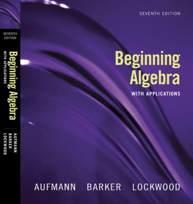Beginning Algebra with Applications
