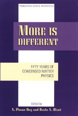 More Is Different Fifty Years of Condensed Matter Physics