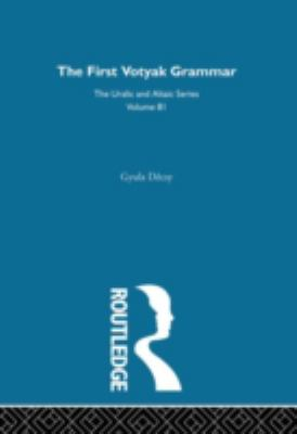 First Votyak Grammar (Indiana University Publications. Uralic and Altaic Series)