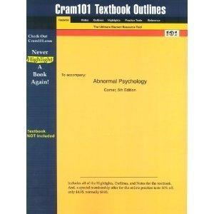 Abnormal Psychology 6th Edition