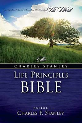 The Charles Stanley Life Principles Bible - Charles Stanley - Hardcover - Black Genuine Leather Indexed