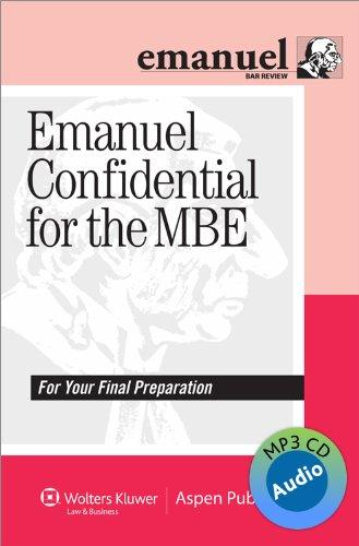 Emanuel Confidential for the MBE Audio Review