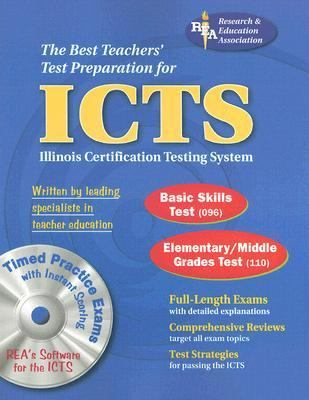 Best Teachers' Test Preparation for the Icts, Illinois Cerfification Testing System Basic Skills Test, Elementary/Middle Grades Test