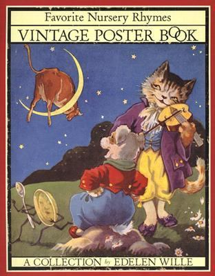 Vintage Poster Book Favorite Nursery Rhymes