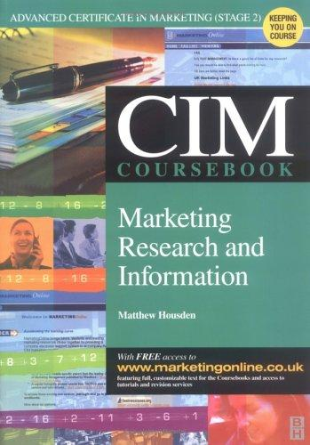 cim marketing information and research The chartered institute of marketing (cim) is the leading professional body for marketers worldwide and exists to develop the marketing profession, maintain professional standards and improve the skills of for more information on funding available from the university of kent, please visit the student funding page.