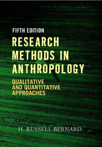 research method in anthropology Research methods in anthropology is the standard textbook for methods classes in anthropology written in russ bernardos unmistakable conversational style, his guide has launched tens of thousands of students into the fieldwork enterprise with a combination of rigorous methodology, wry humor, and commonsense advice.