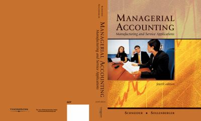 Managerial Accounting Manufacturing And Service Applications