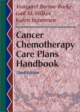 Cancer Chemotherapy Care Plans Handbook