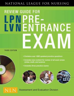 Review Guide For Lpn Lvn Pre Entrance Exam 3rd Edition