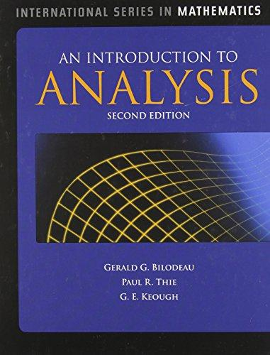 An Introduction to Analysis (International Series in Mathematics)