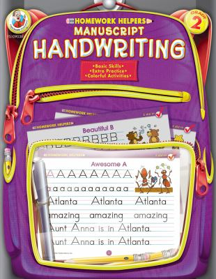 Homework Helper Manuscript Handwriting, Grade 2