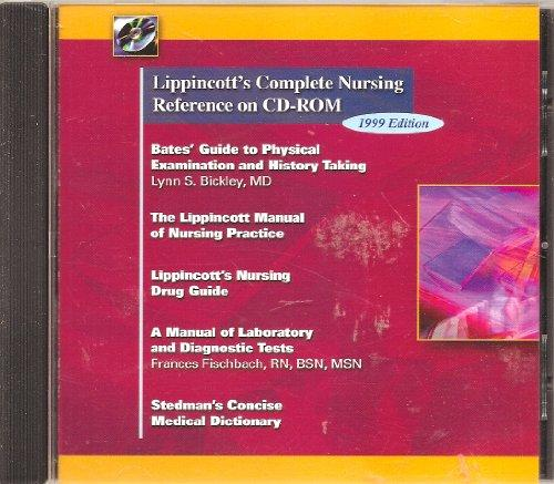 Lippincott's Complete Nursing Reference on CD-ROM (Single-User Version for Windows & Macintosh)