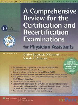 Review for the National Certification/Recertification Examination for Physician Assistants Published in Collaboration With Aapa and Apap